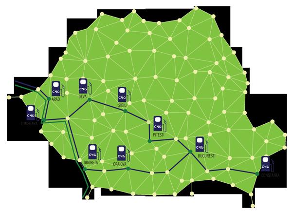 Harta statii CNG Romania